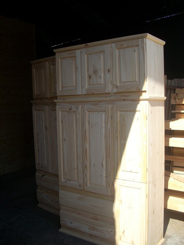 ropero pino masizo 1,20 puerta para abrir/botinero
