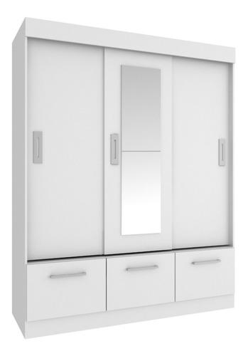 ropero placard 3 p corredizas 3 c. opción con espejo que sal