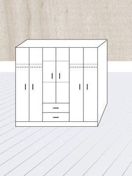 ropero placard 6 puertas 2 cajones bahia orlandi 330/1/2/3
