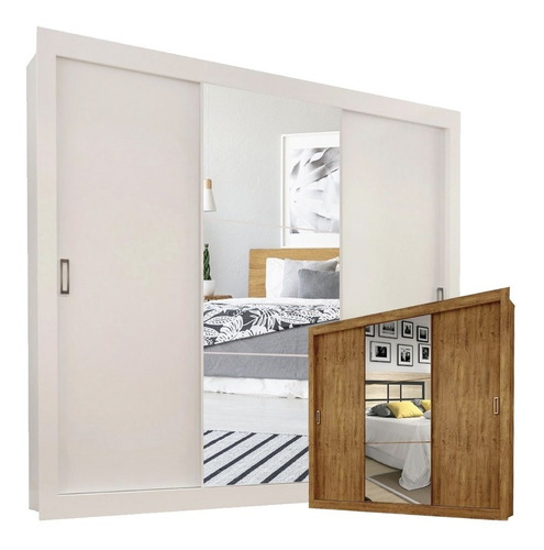 ropero placard 8 estantes 52 profundidad corredizo 1 espejo