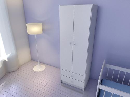 ropero placard infantil 2 puertas - dormitorio - todohogar