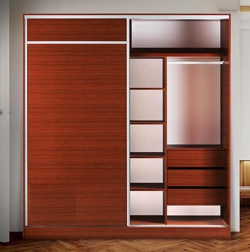 ropero / placard melamina premium 1.60m. - 2 puertas - tigre