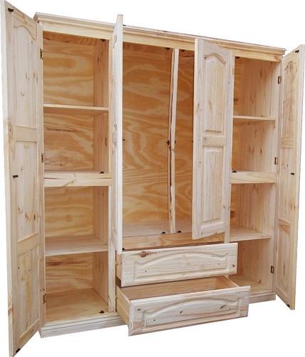 ropero placard pino macizo 160 puerta abrir ohventas