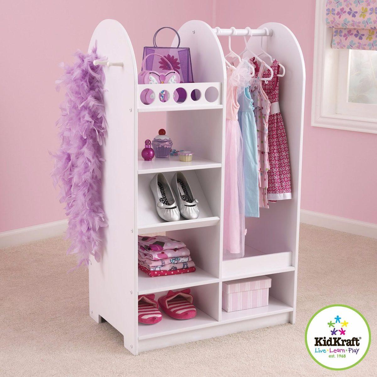 ropero roperito closet para ni a con espejo kid craft vv4 5 en mercado libre. Black Bedroom Furniture Sets. Home Design Ideas
