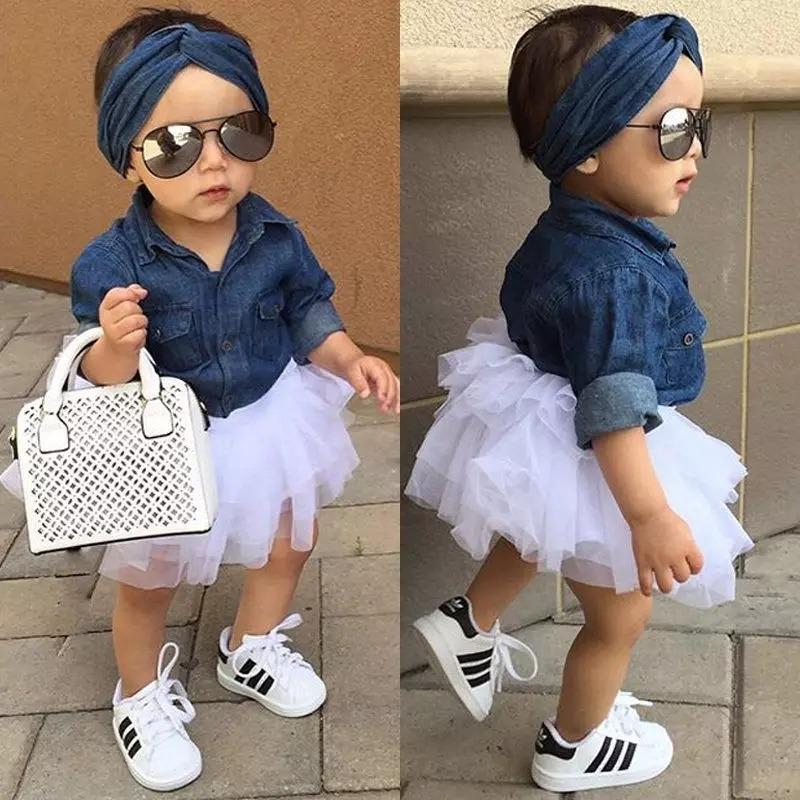 02aed9194 Ropita Casual Moda Para Niña Lindo Ropa Bebe Outfit Tutu