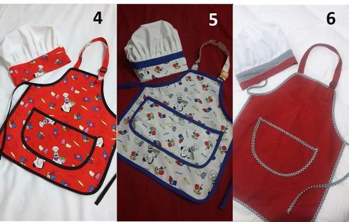ropita de chef - cocineritos para niña y niño.
