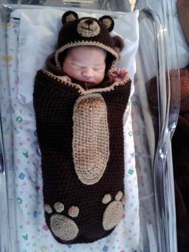 ropita tejidas a mano abrigos recien nacidos