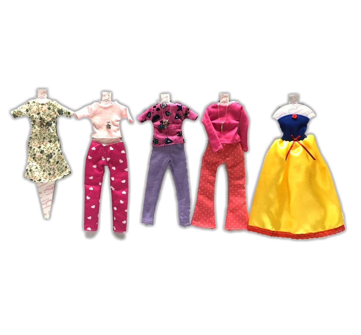 a672c13ed1e9 Ropita Vestido Para Barbie X5 Ropa Con Collares Para Muñecas -   660 ...