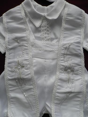ropon bautizo niño niker perlitas camisa short boina 6407