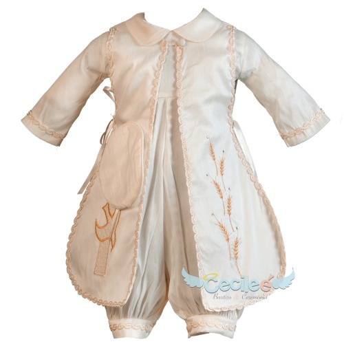 ropón hermoso bautizo de lujo niño exclusivo tradicional 83s