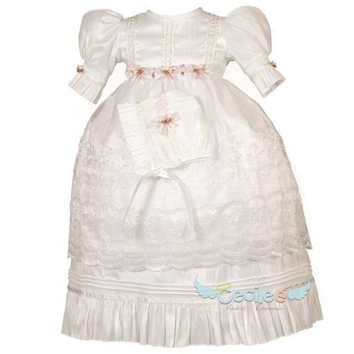 ropon niña ropa bautismo exclusivo elegante olan