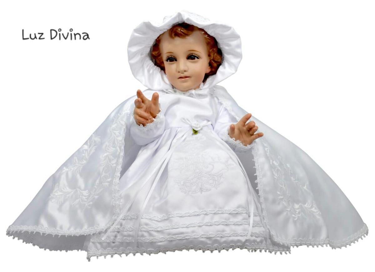 Ropones Niños Dios Blancos Tradicionales Nuevos Bordados