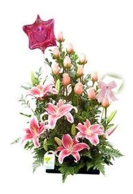 Rosa Azules Arreglo Floral Chorrillos Matellini