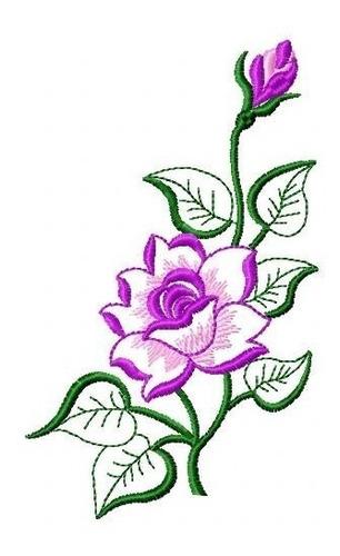 rosa belíssima - coleção de matriz de bordado floral lindos
