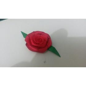 Rosa De Cetim Com Folha Pct Com 50 Un. Frete Un.