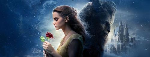 rosa de la bella y la bestia - lampara disney
