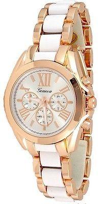 27a79590a9ed Rosa De Oro Blanco Para Mujer Ginebra Reloj Pulsera... -   44.990 en ...