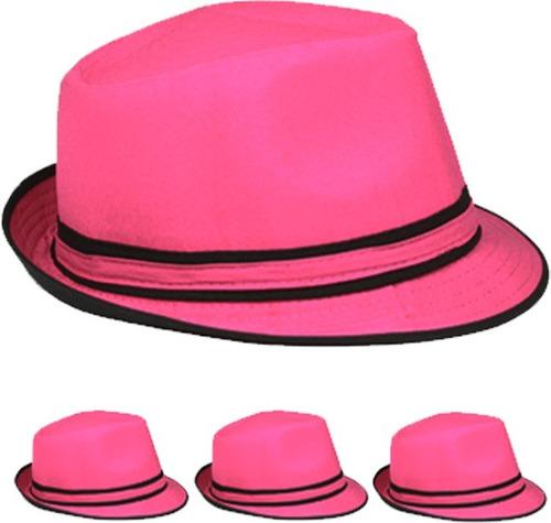 rosa fedora sombrero caso paquete 72
