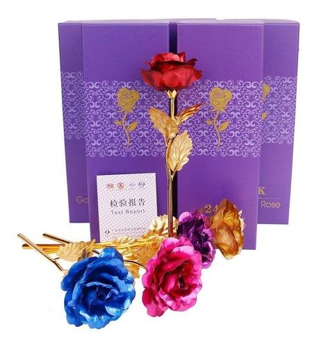 rosa oro laminado 24k el mejor regalo único amor y amistad