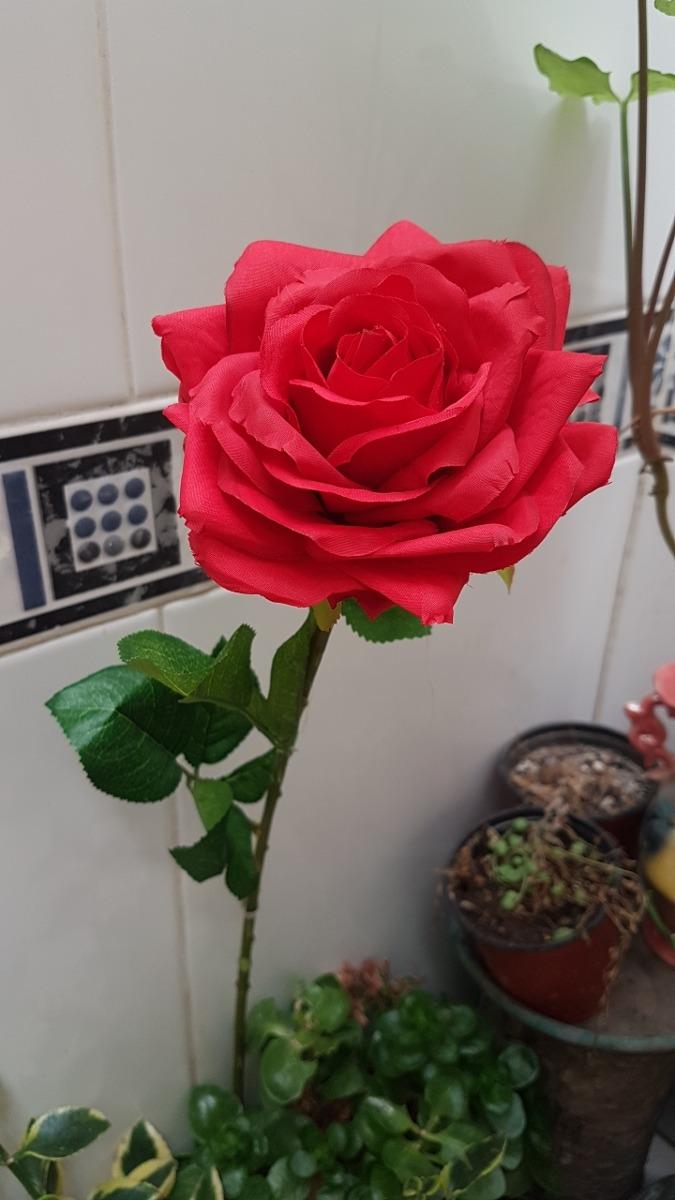Rosa Roja Grande Hermosa Ideal Decoración Boda Centro Mesa 9900