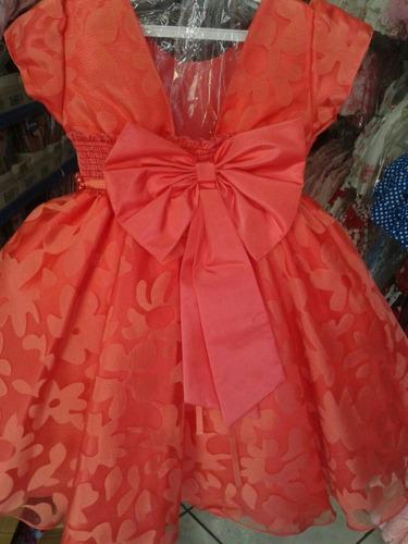 rosalinda vestido infantil coral