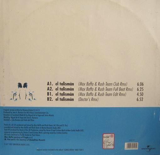 Rosana El Tàlisman (the Original Remixes) Vinil Lp Dj 90´s