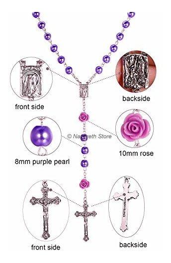 color lilas 10 piezas 8 mm Perla
