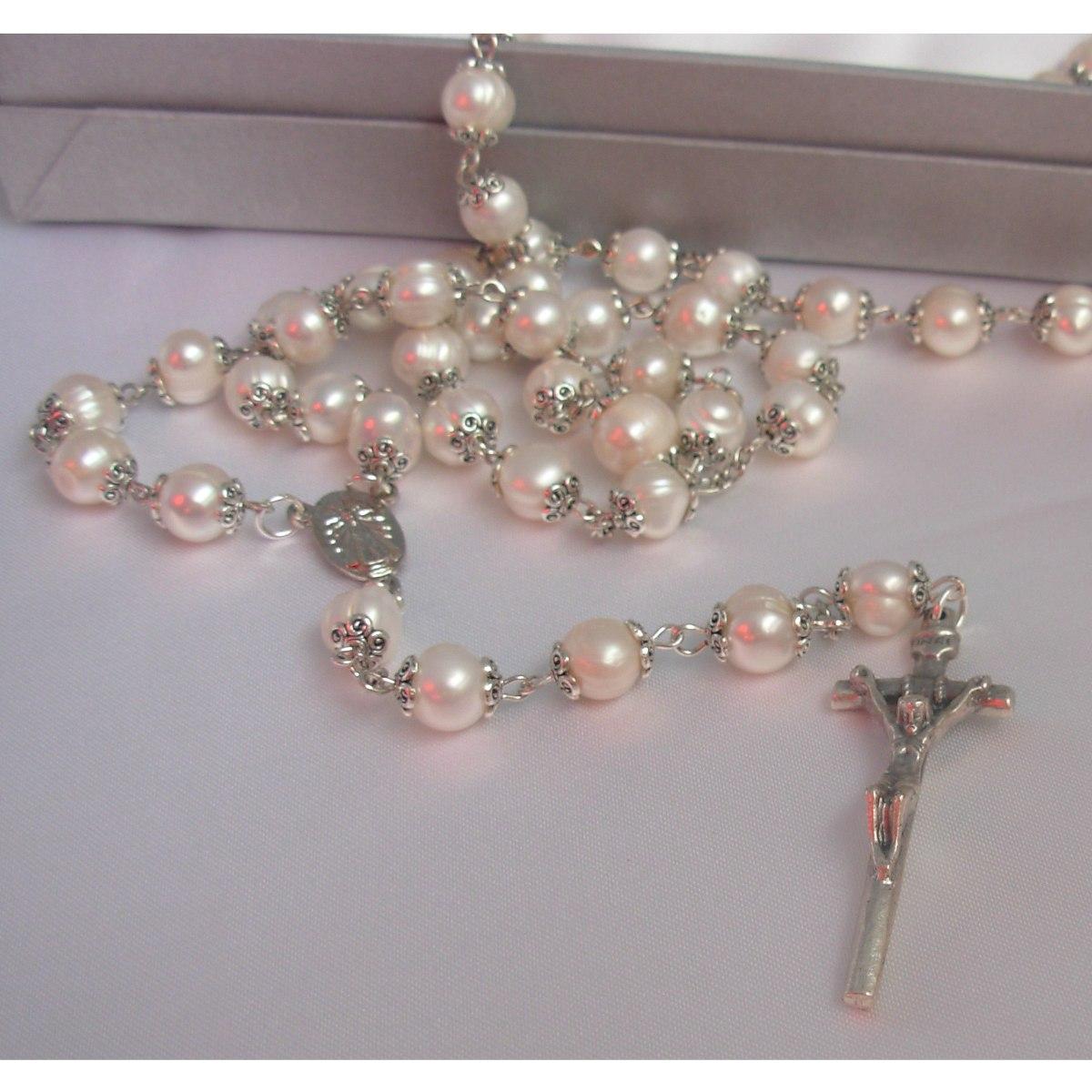 64c1202e99fc rosario con perlas naturales cultivadas. Cargando zoom.