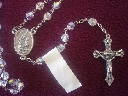 rosario cristal swarovski especial para comunión o novia