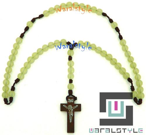rosario cuentaas acrilico fluor ((precio x unidad))