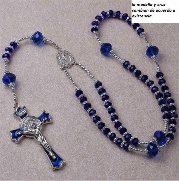 Rosario de cristal en ba o de plata recuerdos bautizos - Como limpiar un rosario de plata ...