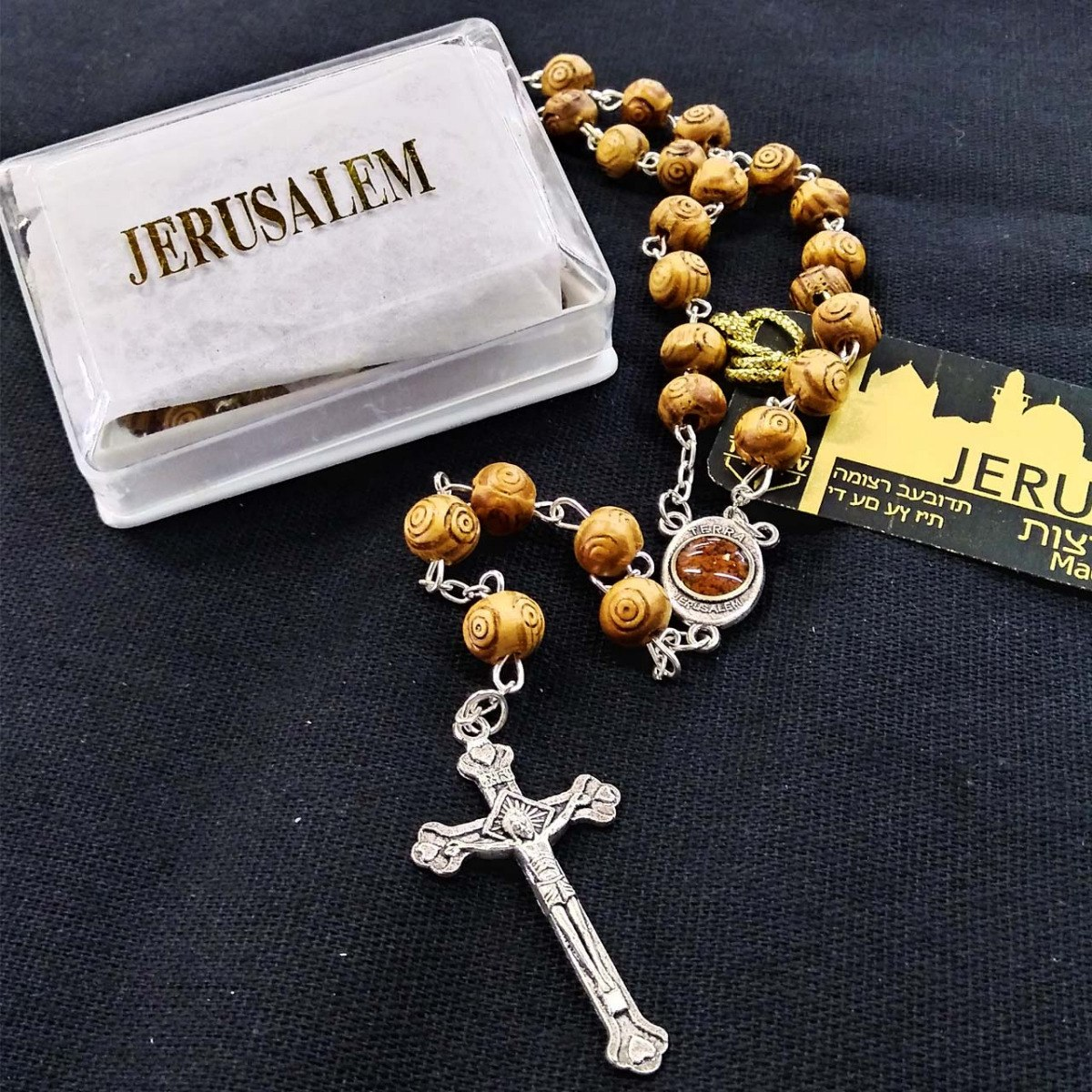 0c310a5bdd3 rosario de madera de olivo jerusalem con tierra santa m3. Cargando zoom.