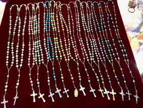 bc2a6250a565 Rosario De Plástico Perla En Varios Colores (100 Piezas)