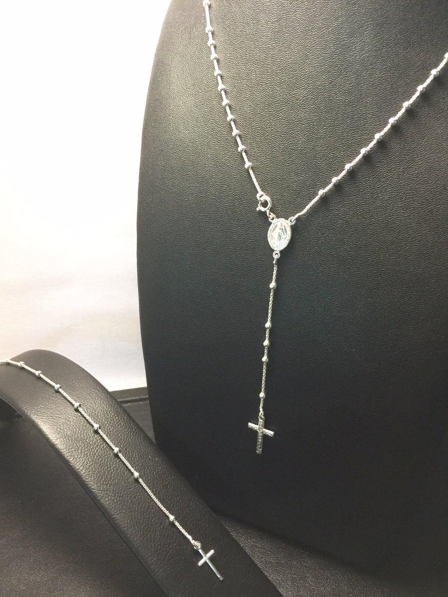 4c8618202694 rosario de plata 925 de 45cm cadena coreana- cuentas de 3mm. Cargando zoom.