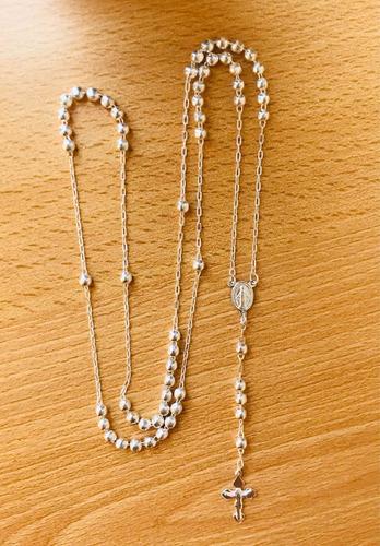 rosario de plata 925 largo 60 centímetros envío gratis