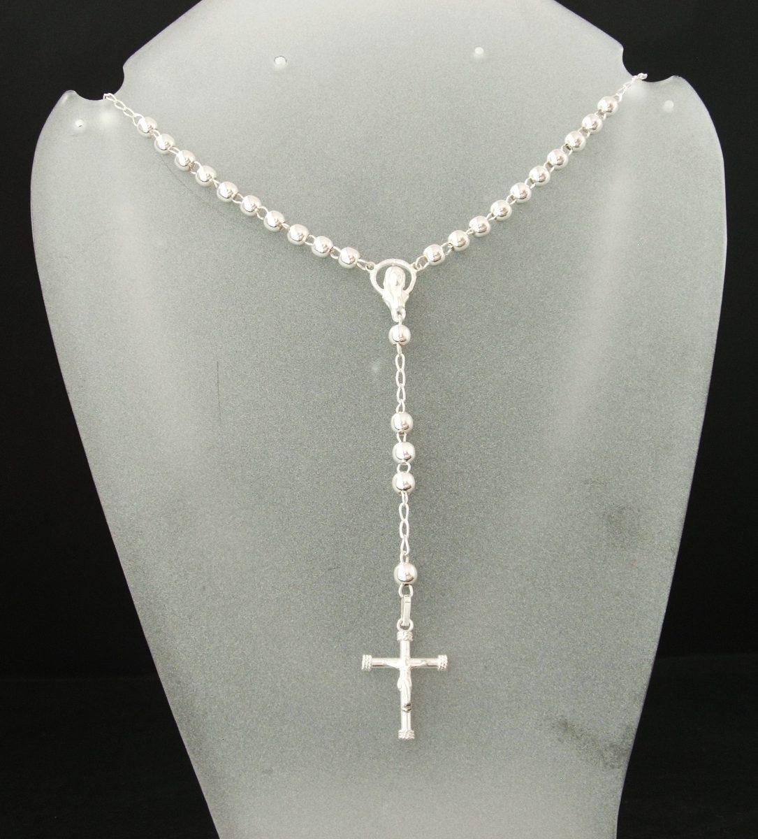Rosario de plata 925 largo de 50cm y 10cm caida vv4 - Como limpiar un rosario de plata ...
