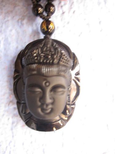 rosario dije buda obsidiana cuarzo sanación reiki amuleto