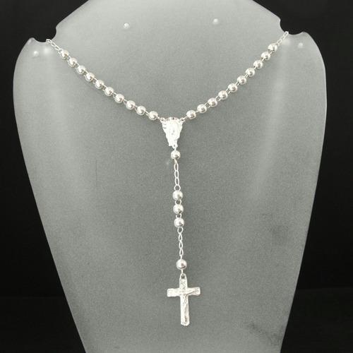 rosario en plata  de ley950.