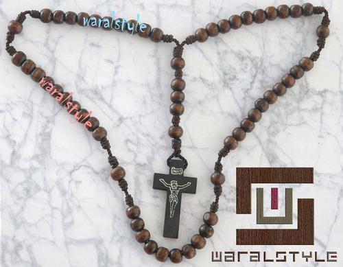 rosario madera con cruz ((precio x unidad))