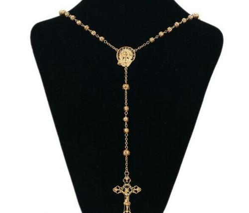 rosario oro laminado 18k
