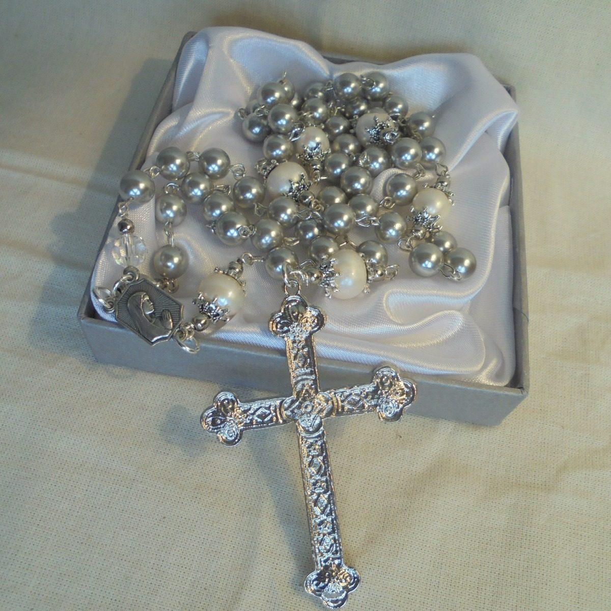 19a3cacf62a2 rosario perlas cultivadas y de nácar gris. Cargando zoom.