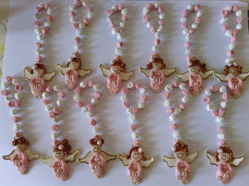 rosarios de masa flexible bautizo comunion recuerdos