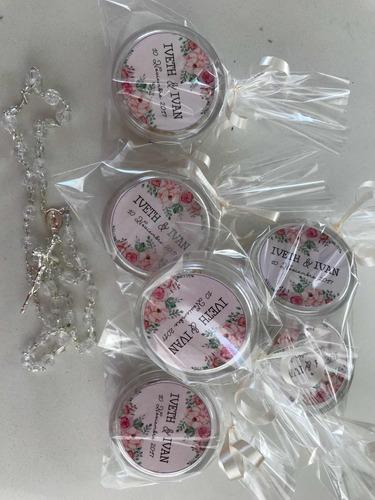 rosarios recuerdos bautizo , boda, comunión, presentación