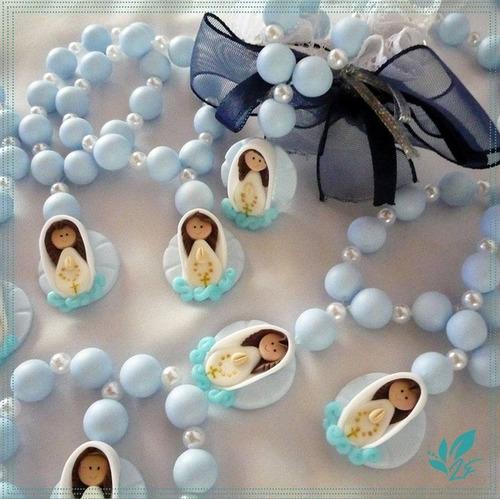 rosarios, virgenes, recuerdos, bautizos, masa flexible
