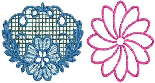 rosas - 3 - 10 matrizes de bordados eletrônicos - via email