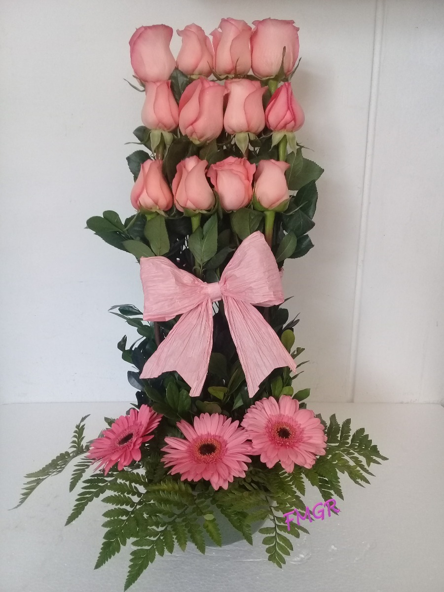 Rosas Arreglos Florales Flores Gerberas Madre