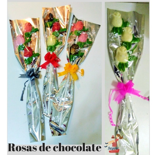 rosas de chocolate dia de la madre, bombones, flores