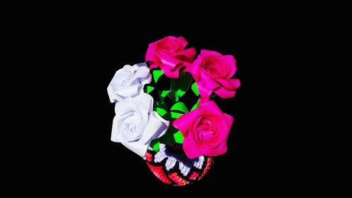rosas en origami, flores, manualidades, adornos, detalles