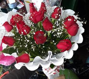 Rosas Flores Ramos Rosa Importada A Domicilio