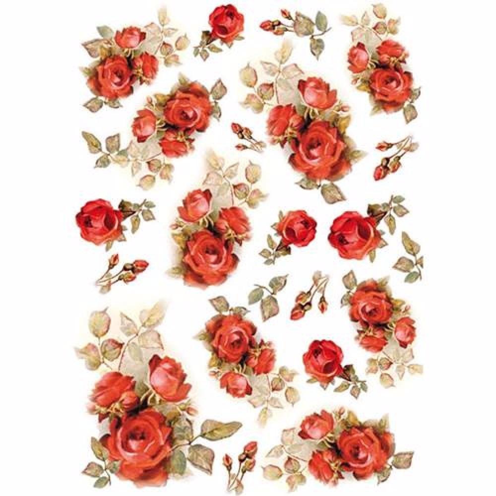 Rosas Papel De Arroz Frete R 1280
